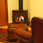 Fireplace in the Library & Gathering Room