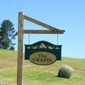 The Chapel of the Holy Family Sign
